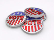 Voting Coins Royalty Free Stock Photography