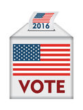 Voting concept, with american flag Stock Photography