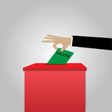 Voting concept in elections - vector images, ballot boxes and paper.  royalty free illustration
