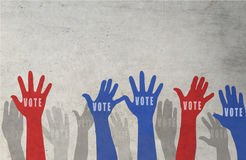 Voting concept in flat style. USA presidential election day voting concept Royalty Free Stock Image