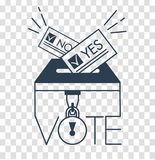 Voting concept in linear style silhouette Stock Photo