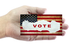 Voting concept. USA presidential election day and voting concept with american flag on background Vector Illustration