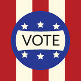 Voting concept by vote of Style flag usa.  Stock Photo