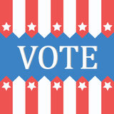 Voting concept by vote of Style flag usa Royalty Free Stock Photo