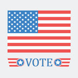 Voting concept by vote of Style flag usa.  Royalty Free Stock Photo