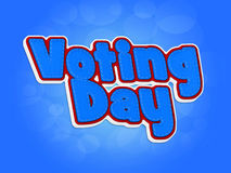 Voting day. Blue Voting day words in 3D toy style Royalty Free Stock Images