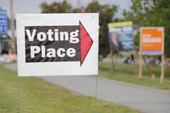 Voting Directions Sign Stock Images