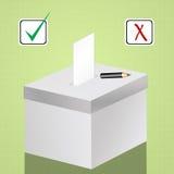 Voting election box Stock Photos
