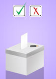 Voting election box Royalty Free Stock Image