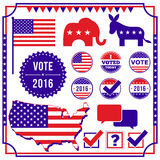 Voting and Election Element Set Royalty Free Stock Photos