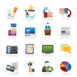 Voting and elections icons Royalty Free Stock Image