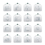 Voting and elections icons Stock Photos