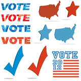 Voting elements Royalty Free Stock Images