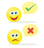 Voting emoticons Stock Images