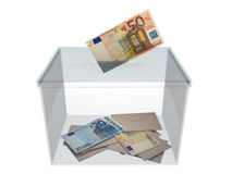 Voting with euros Royalty Free Stock Photos