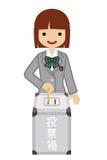 Voting -Female Japanese High School Student - blazer Royalty Free Stock Image