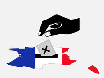 Voting in french election Royalty Free Stock Photo