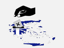 Voting in Greek election Stock Images