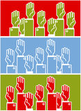 Voting group of people Stock Image