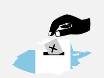 Voting in Guatemalan election Royalty Free Stock Images
