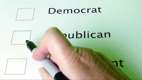 Voting stock footage