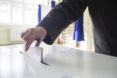 Voting hand Royalty Free Stock Photography