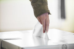 Voting hand Stock Image