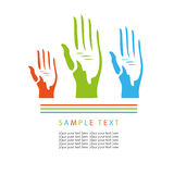 Voting hands. Beautiful artwork suitable for greeting card, posters, books, poetry Stock Photo