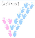 Voting hands  image Royalty Free Stock Image