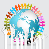 Voting Hands - Paper Cut Palm Hands Set Stock Images
