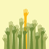 Voting Hands Up Royalty Free Stock Images