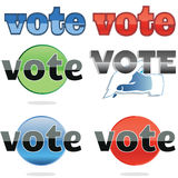Voting icons Royalty Free Stock Photos