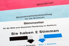 Voting form Stock Images