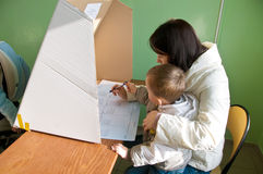 Voting in local elections in Poland Stock Images