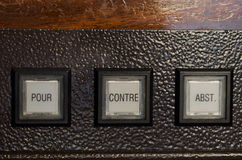 French Voting machine Royalty Free Stock Photography