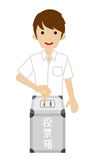 Voting - Male Japanese High School Student - Short Sleeved Stock Images