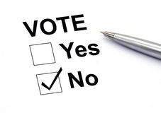 Voting no check-box Royalty Free Stock Image
