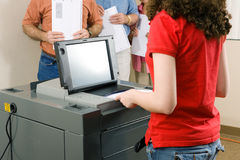 Voting on Optical Scanner Royalty Free Stock Images