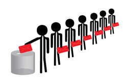 voting people Royalty Free Stock Images