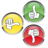 Voting red-yellow-green Royalty Free Stock Photos