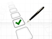 Voting right decision concept. Voting and pen right decision concept Royalty Free Illustration