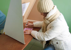 Voting in second round - local elections in Poland Royalty Free Stock Image