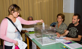 Voting at Spanish Municipal Elections Stock Photos