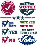 Voting Stamps Royalty Free Stock Images