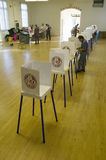 Voting stands for Congressional election, November 2006, in Ojai, Ventura County, California Royalty Free Stock Images