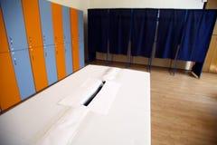 Voting station Stock Photo