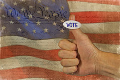 Voting sticker with flag Royalty Free Stock Image