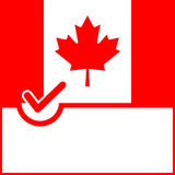 Voting symbol Canada flag Stock Image