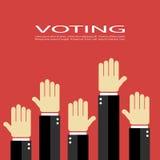 Voting vector poster Stock Photos