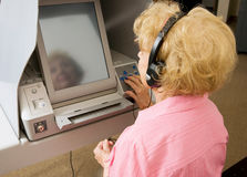 Voting For Vision Impaired Stock Photos